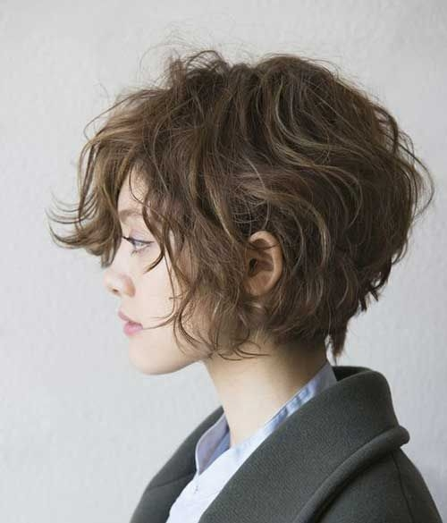 Messy Layered Haircuts For Thick Hair Best Curly Short Via