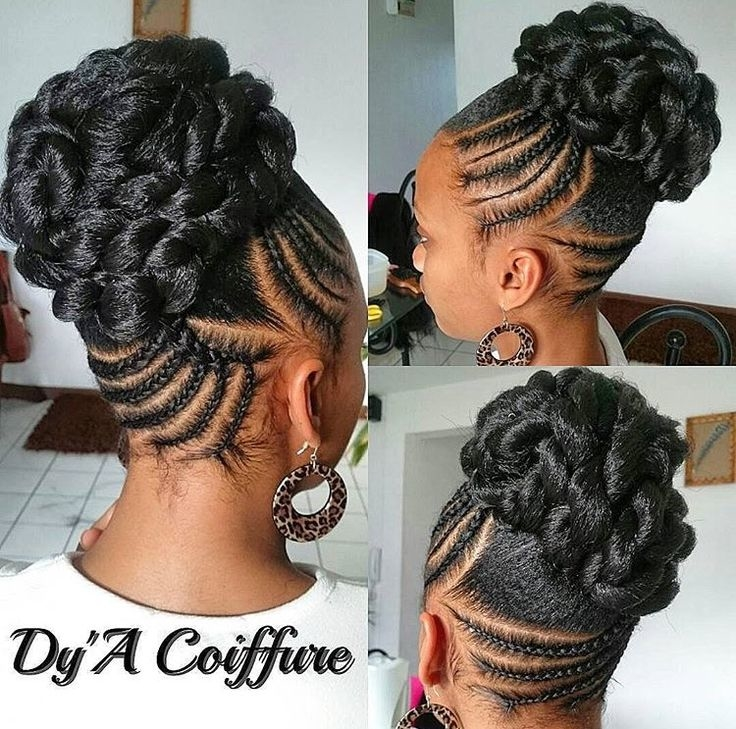 Updo Hairstyles With Bangs For Black Women 47