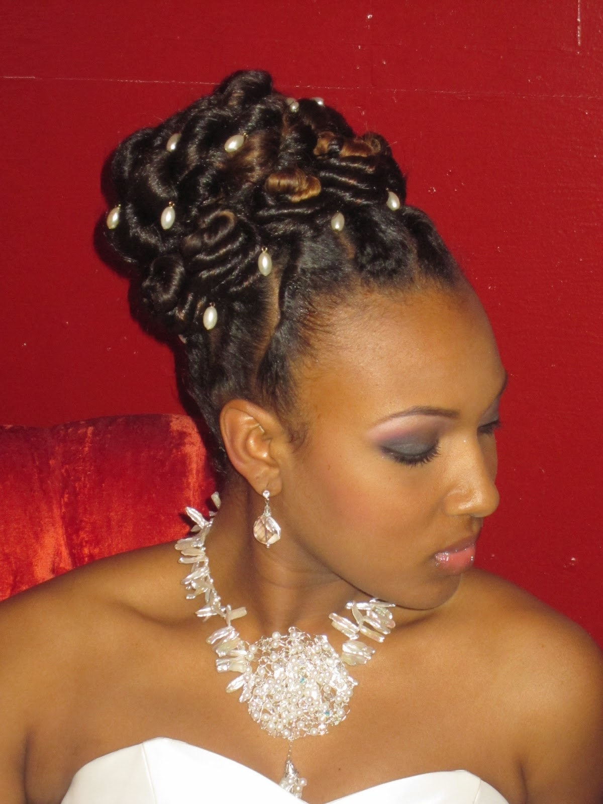 Updo Hairstyles With Bangs For Black Women 58