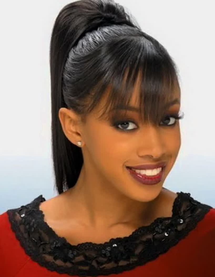 Ponytail Hairstyles For Black Women Best Short Hairstyles