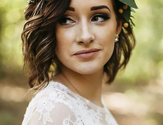 Short Curly Wedding Hairstyle Best Short Hairstyles