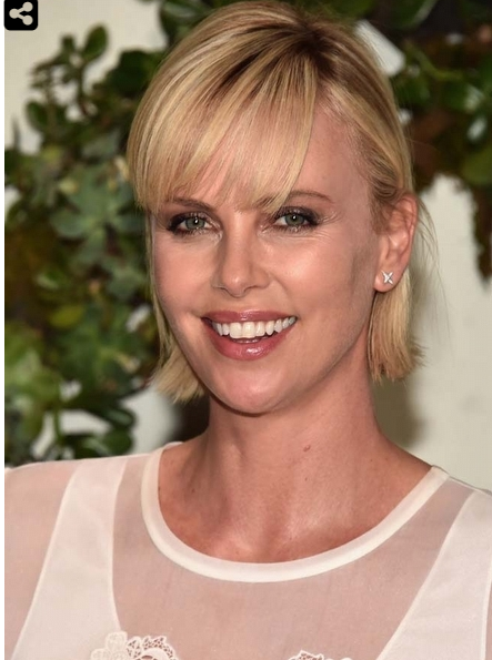 Charlize Theron New Short Hair
