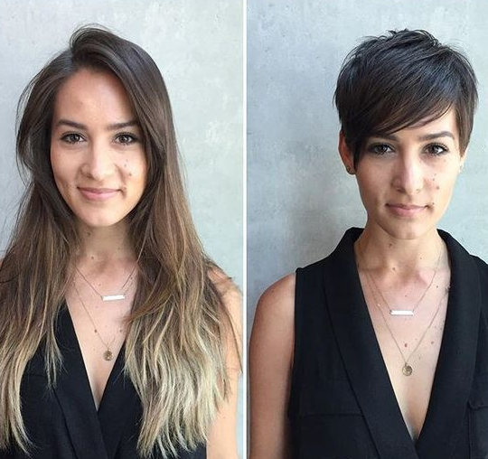 From Long Hair to a Pixie Hairstyle