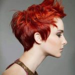 Red Short Hairstyles for Girls